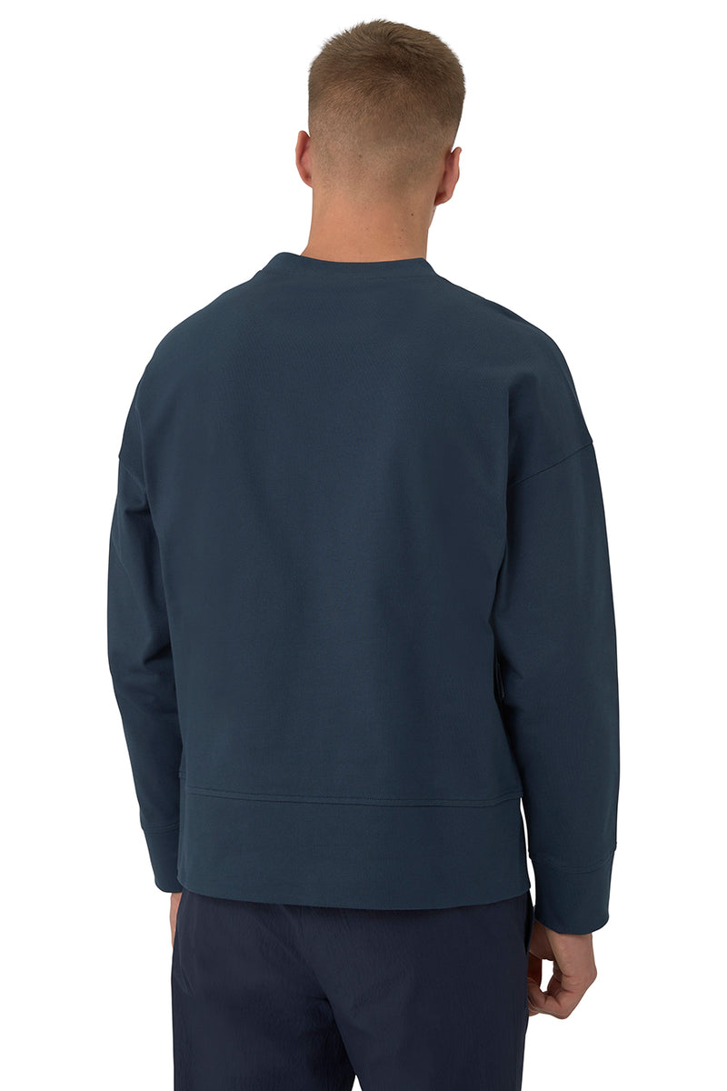 Embossed Crest Long-Sleeve Crewneck