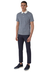 Cotton Linen Blend 3-Button Polo