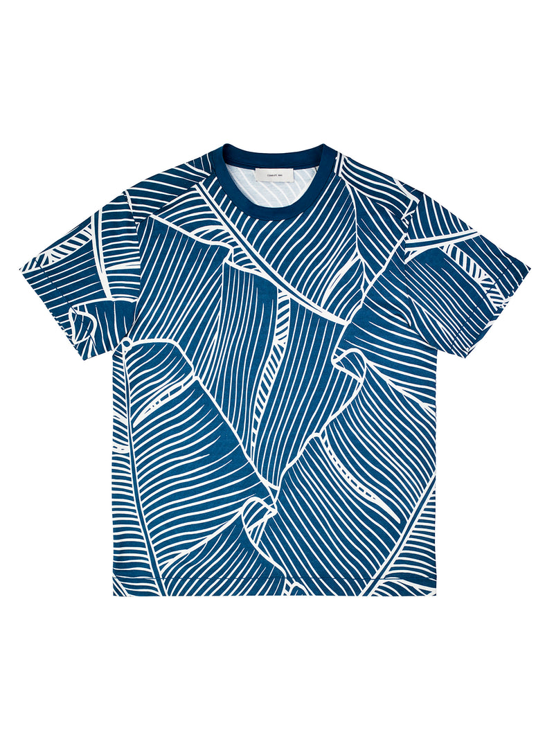 Tropical Leaves Allover Print T-Shirt