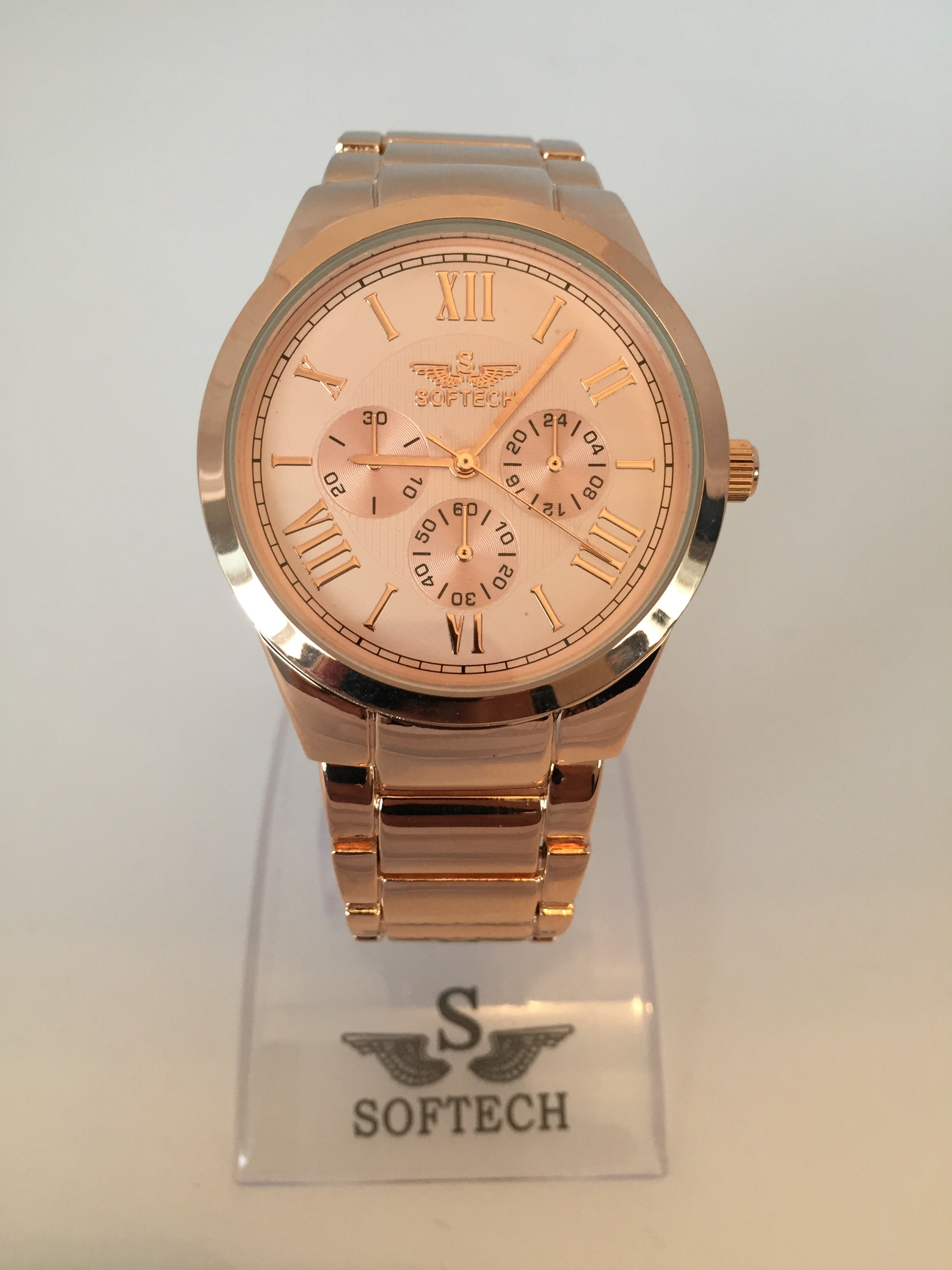 Rose Gold or Silver Quartz Wrist Watch by Direct Savings Online