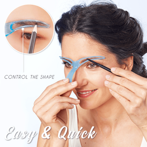 Eyebrow Stencil Shaper Reusable Template by  Direct Savings Online