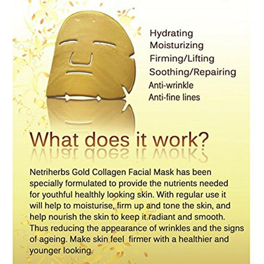 Gold Collagen Face Mask by  Direct Savings Online