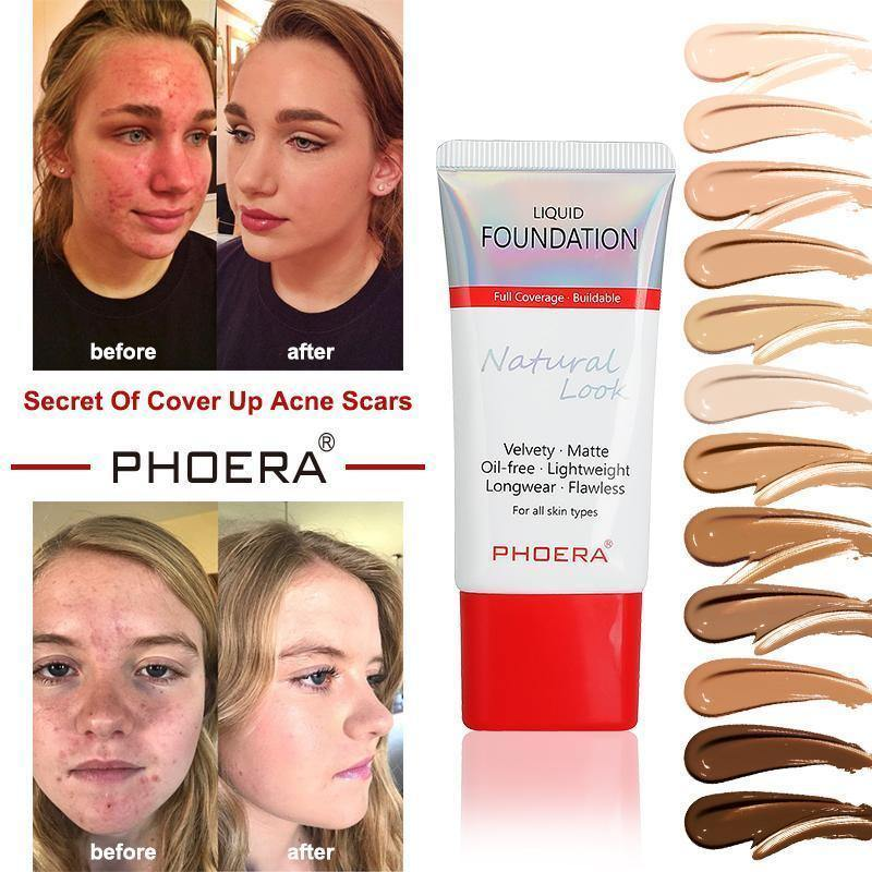 Phoera Flawless Lasting Matte Liquid Foundation Tube by  Direct Savings Online