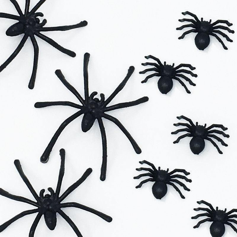 100pcs Fake Spider Halloween by  Direct Savings Online