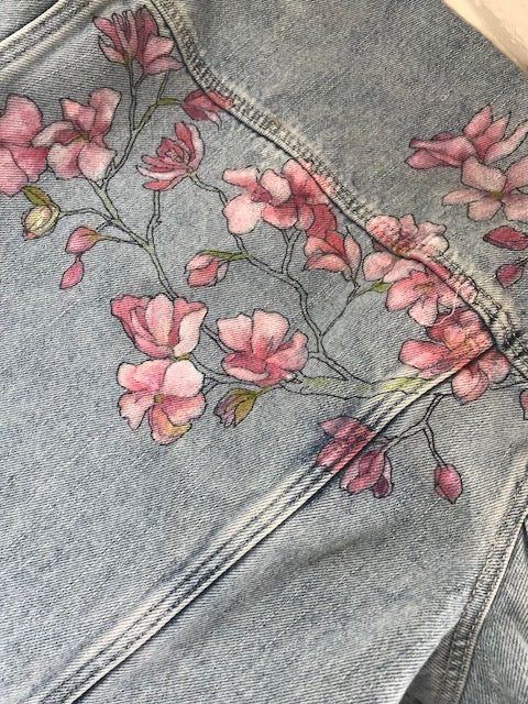 Cherry Blossoms Cropped Jacket