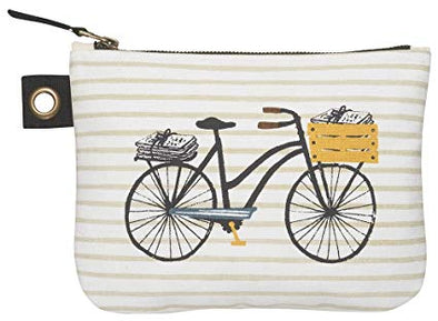 Bicicletta Large Zipper Pouch