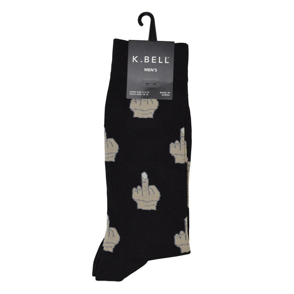 Middle Finger Crew Socks