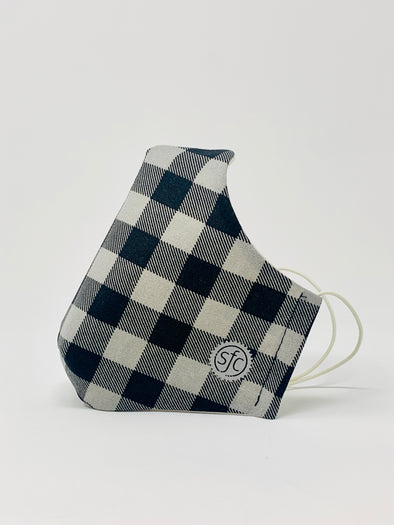 Gingham Reflective Logo Mask