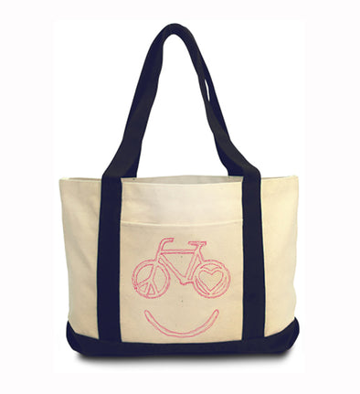 Happy Bike Tote Bag