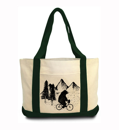 Bear In the Woods Boat Tote