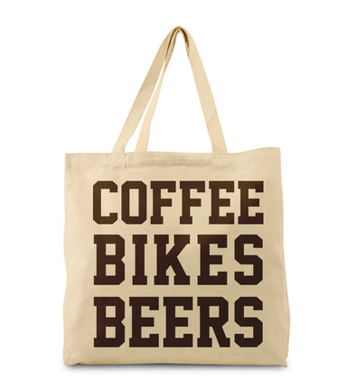 Coffee Bikes Beer Tote Bag