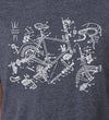 Exploded Bike - SFCycle - 3 bike t-shirts