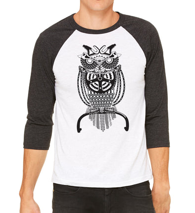 Owl Raglan - Men - SFCycle - 1  bike t-shirts