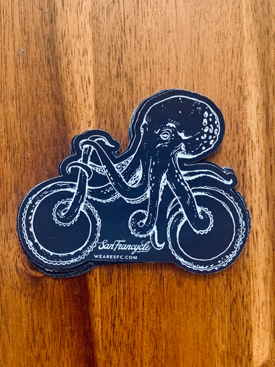 Octo Bike Sticker