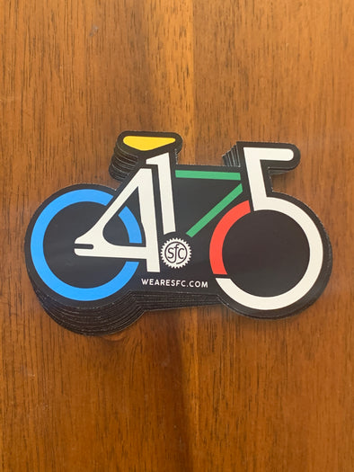 415 Bike Sticker