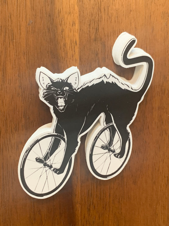 Cat Cycle Sticker