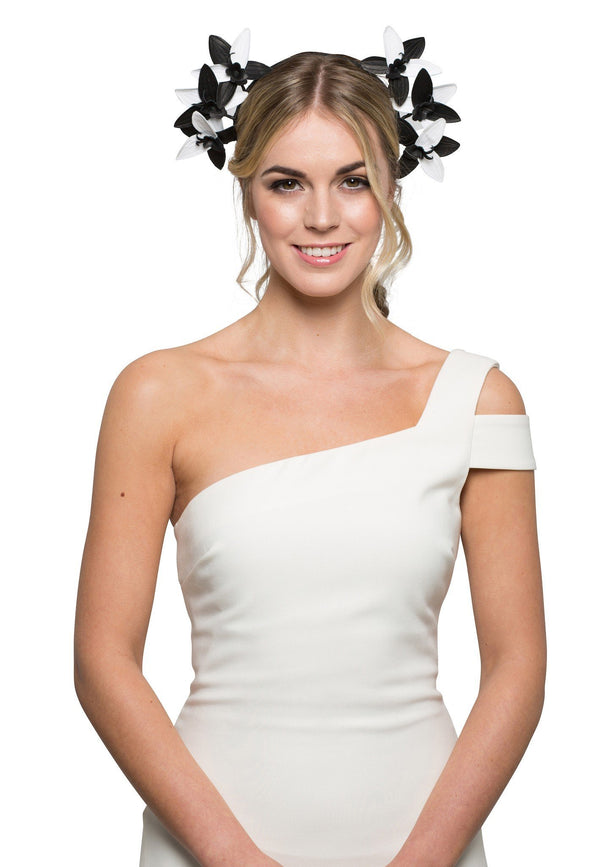 Allport Millinery Selene - Black & White* for rent - Her Wardrobe Dress Rental