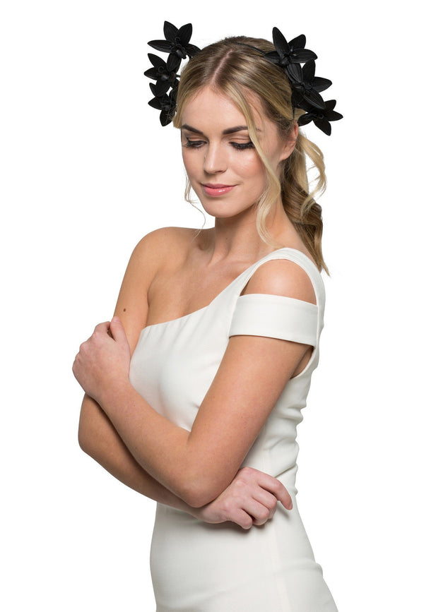 Allport Millinery Selene - Black* for rent - Her Wardrobe Dress Rental