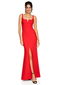 Likely NYC Constance Gown - Scarlet for rent - Her Wardrobe Dress Rental