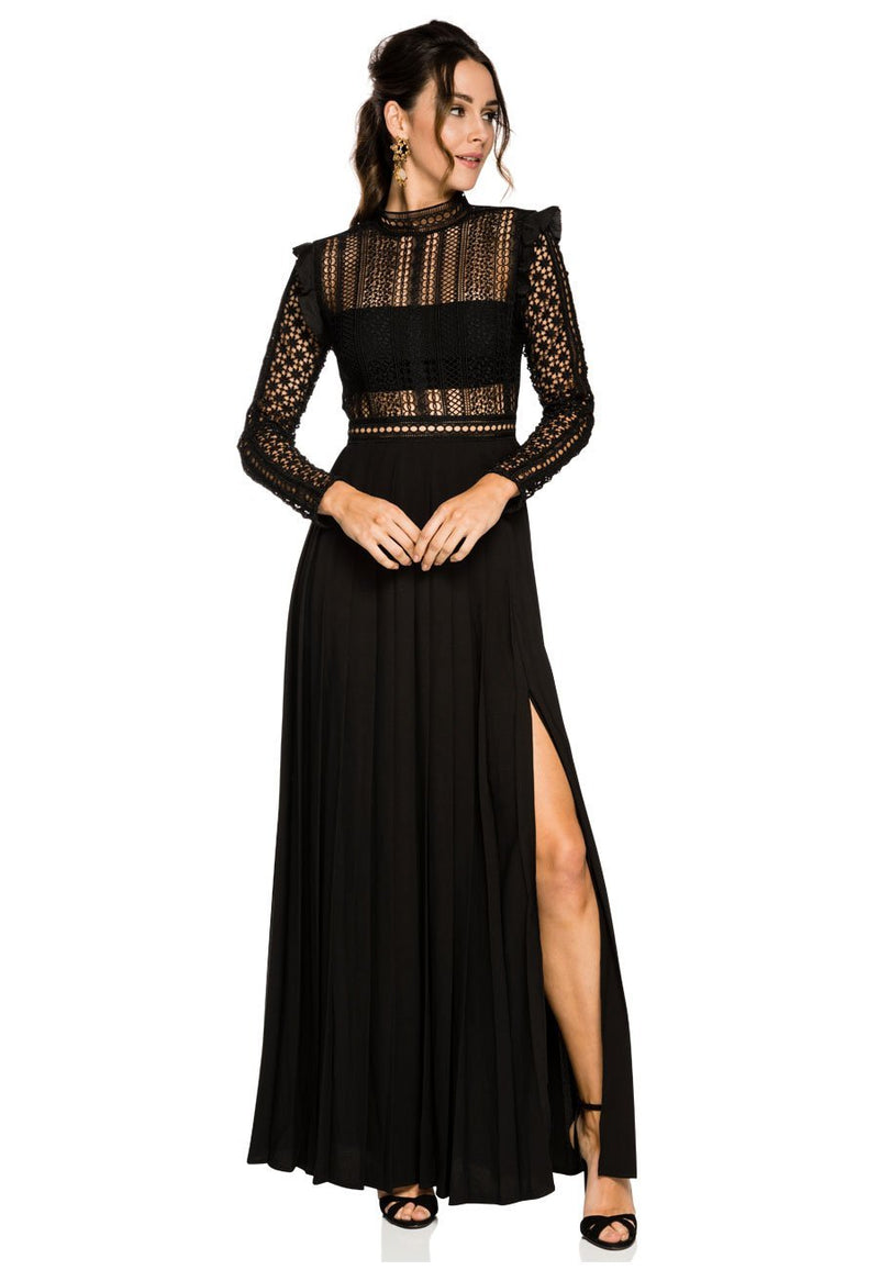 Self Portrait Guipure Lace Maxi Dress for rent - Her Wardrobe Dress Rental