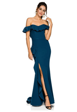 Rebecca Vallance Aegean Off Shoulder Gown for rent - Her Wardrobe Dress Rental