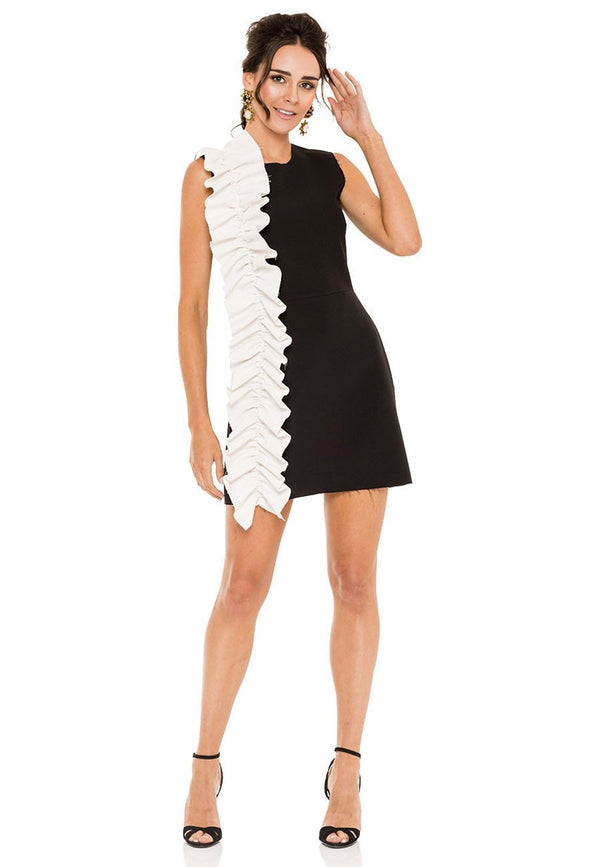 MSGM White Ruffle Dress for rent - Her Wardrobe Dress Rental