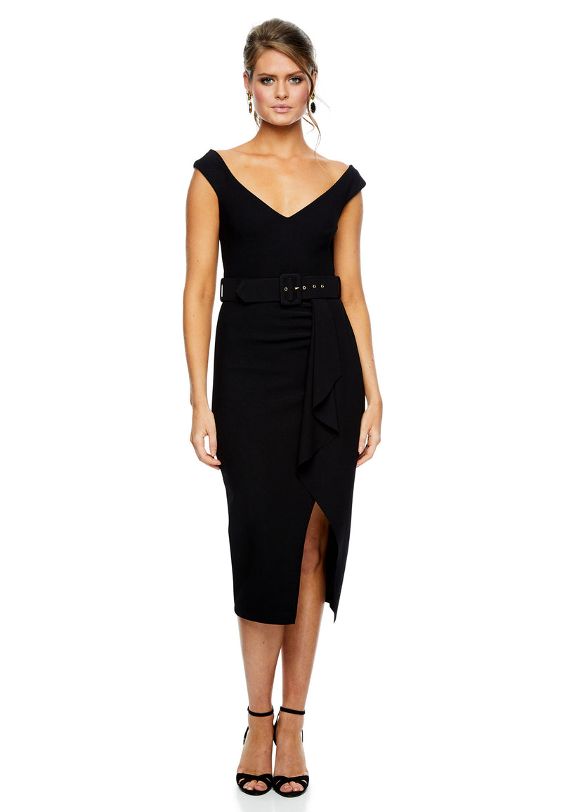 Dynasty Waterfall Midi - Black