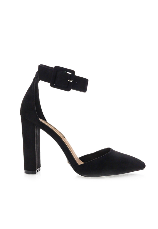 Hart Pump - Black Suede