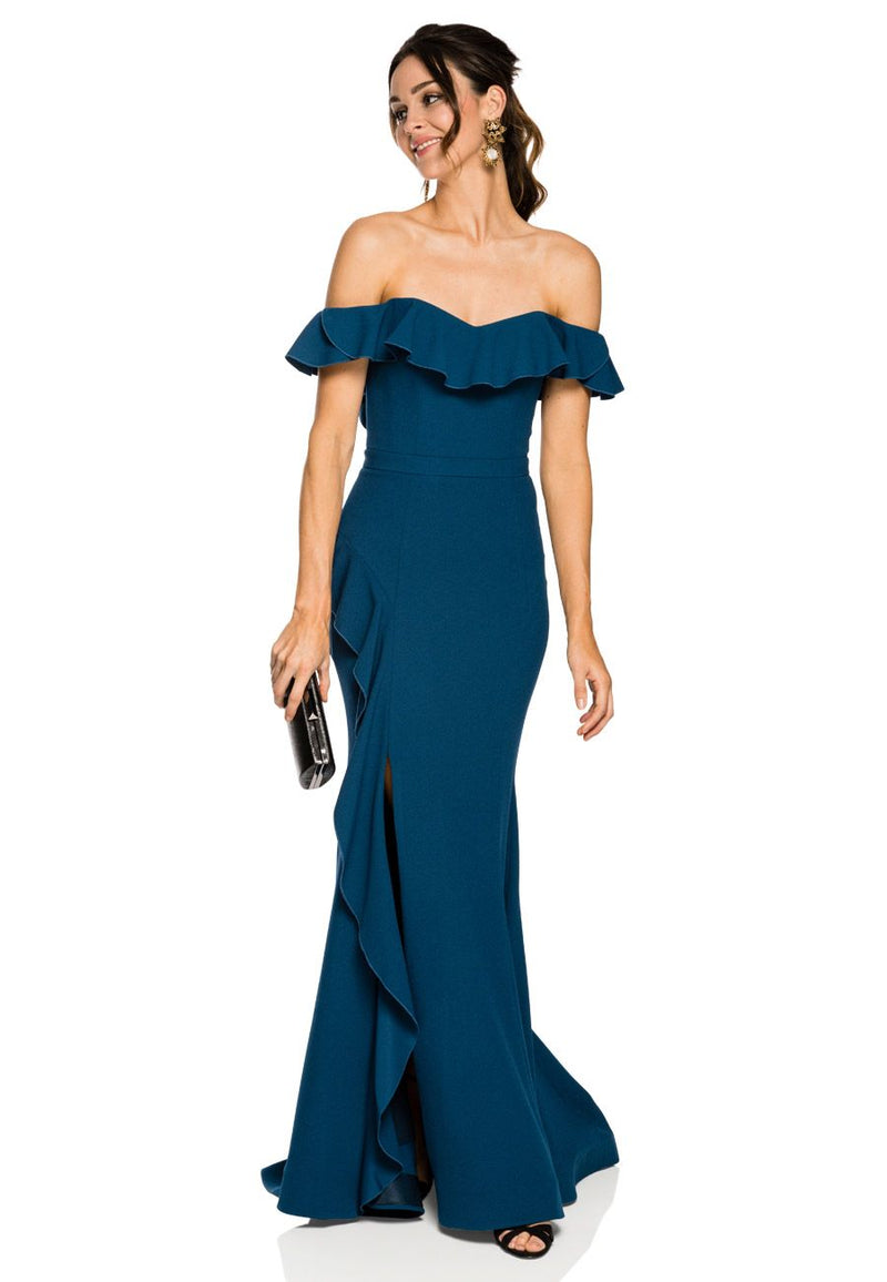Aegean Off Shoulder Gown