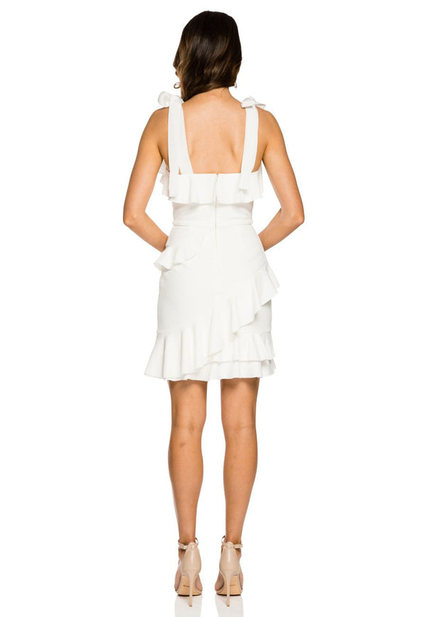 Aegean Mini Dress - White