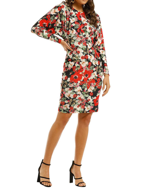 Lilianna Floral Dolman Sleeve Sheath