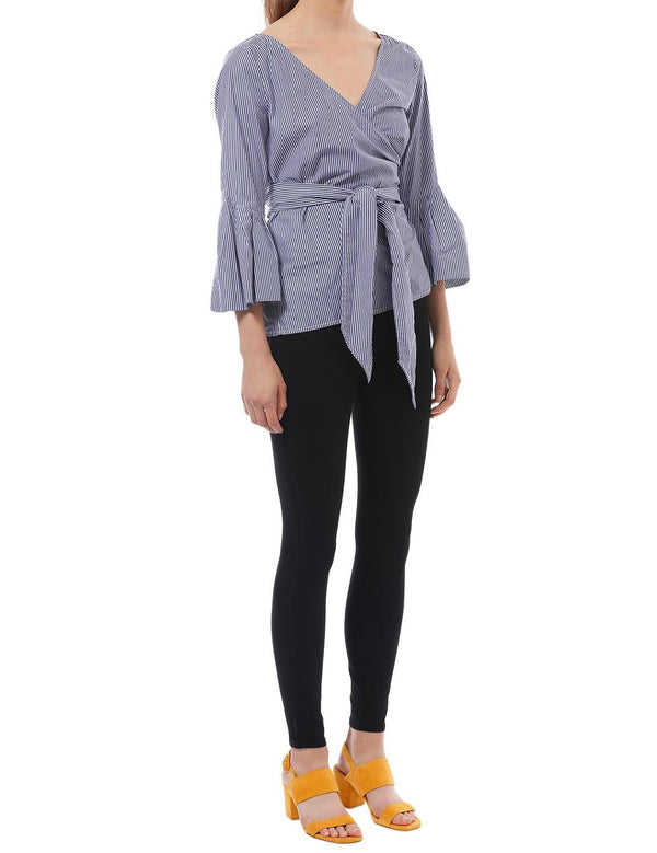 Ashworth Shirting Wrap Top