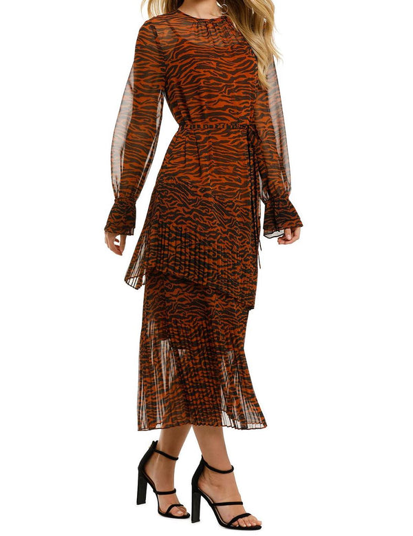 Esmee Zebra Midi Dress
