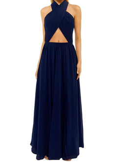 Wired Heart Navy Maxi Dress