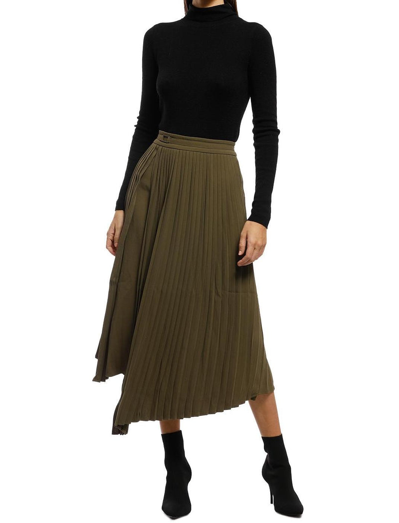 Nathalie Pleated Asymmetry Skirt