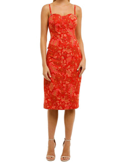 Hibiscus Strapless Dress