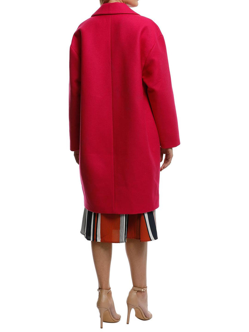 Unstructured Wool Blend Coat