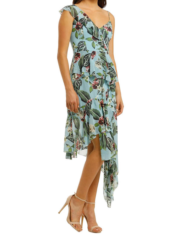 Mayflower Shoulder Frill Dress