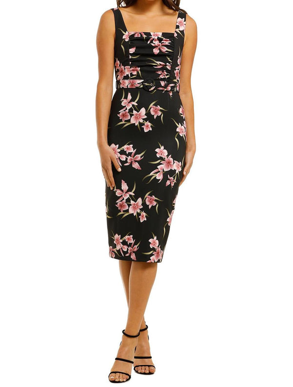 Haven Square Midi Dress