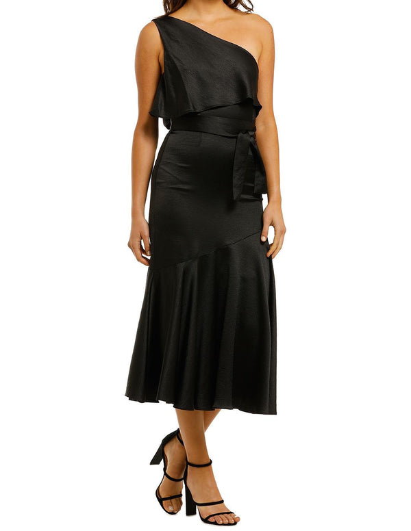 Oasis Asymmetry Midi Dress