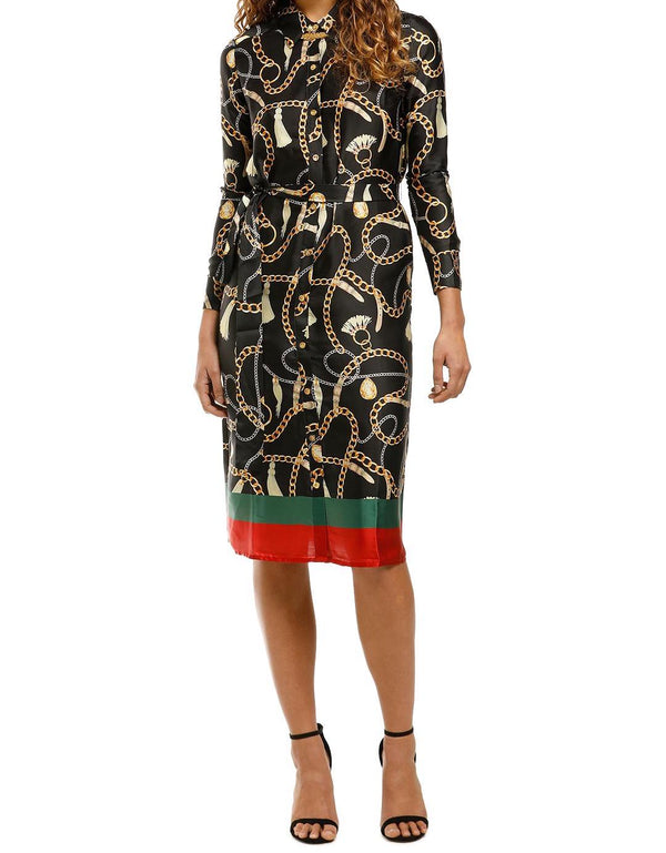 Sabine Printed Button Down Shirt Dress