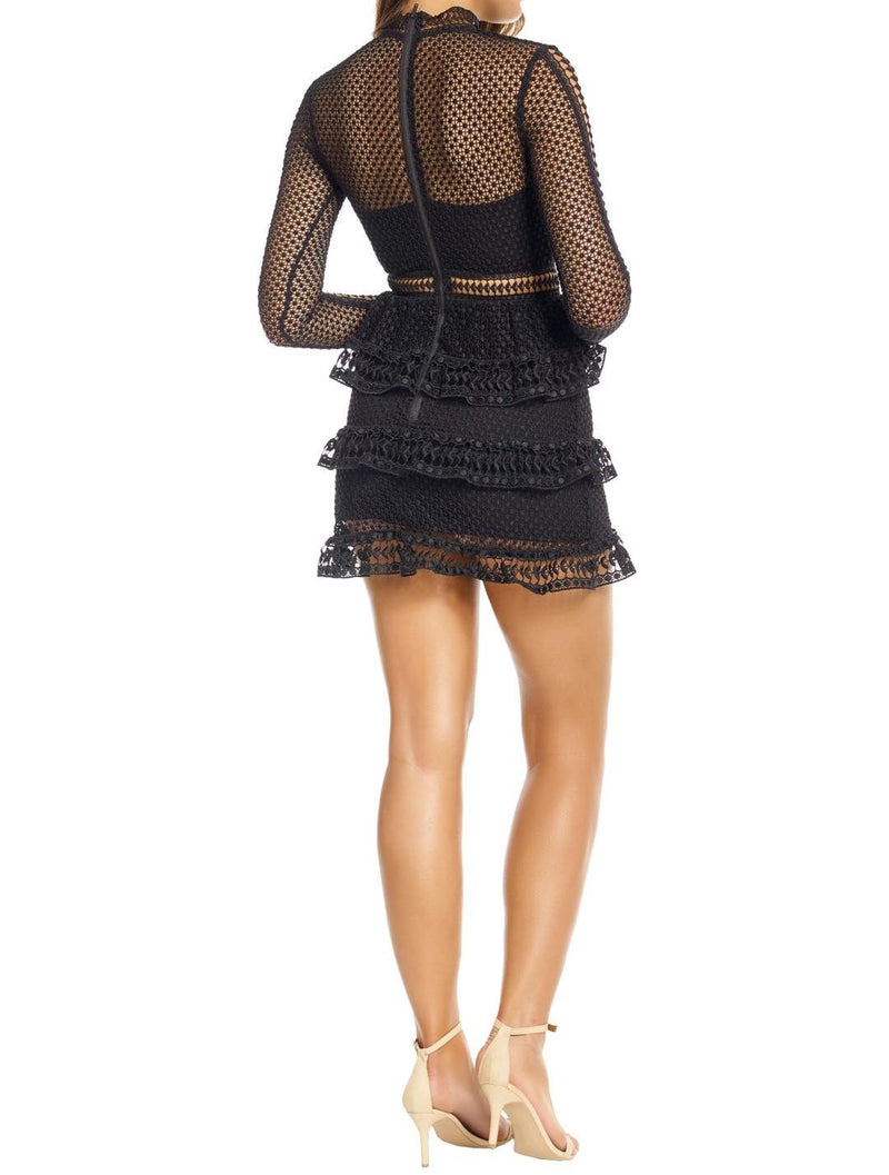 Tiered Guipure Lace Dress