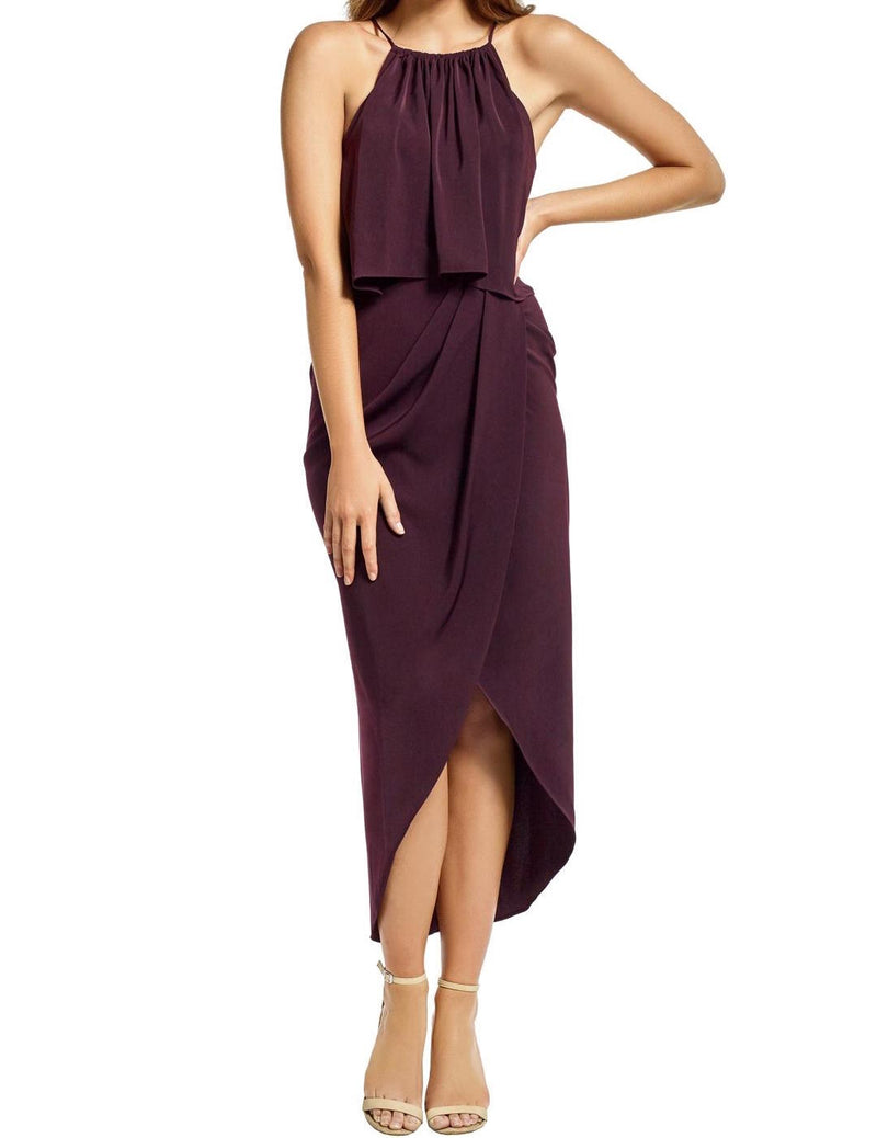 Frill High Neck Maxi Dress