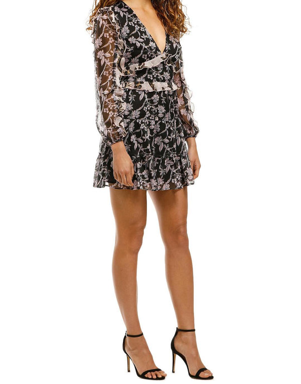 Blooming LS Mini Dress