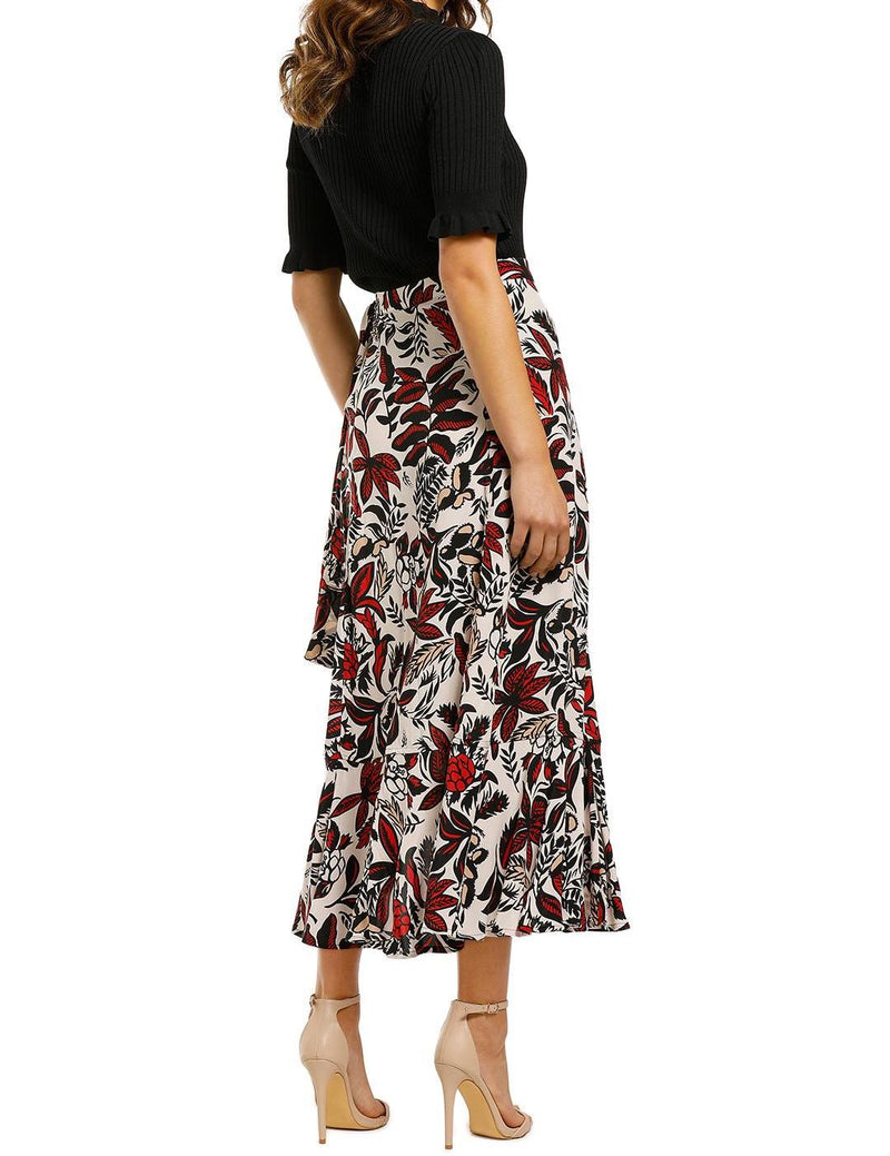 Assorted Leaves Wrap Skirt