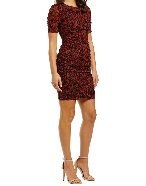 Mini Ikat Animal Print Silk Bodycon
