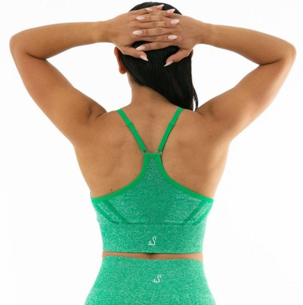 Mermaid Green Sports Bra