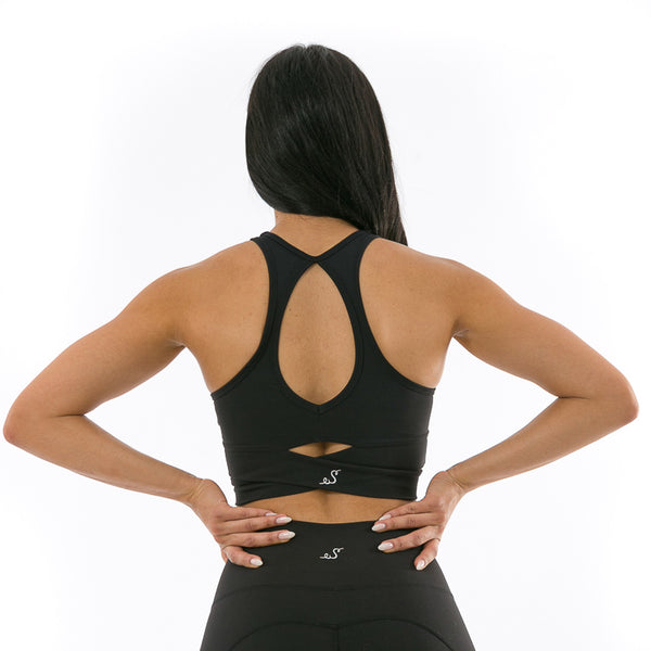chic charcoal sports bra