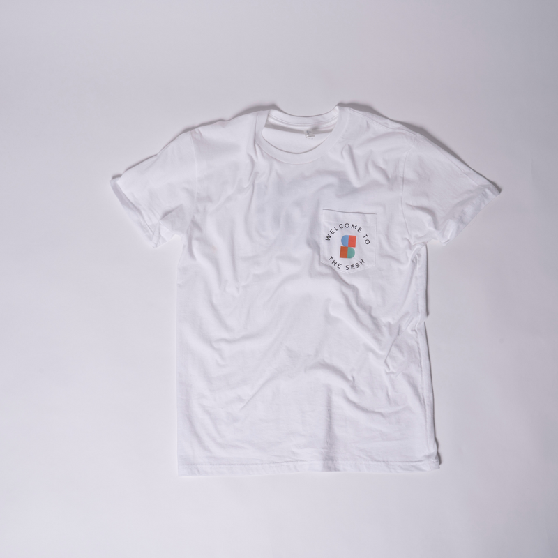 SESH White Pocket Tee
