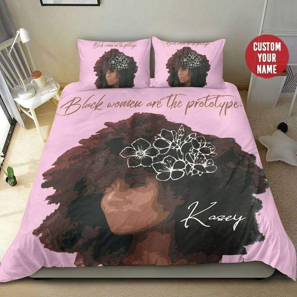 Black Women Are The Prototype Bedding Personalized Name Duvet Cover Bedding Set #309H